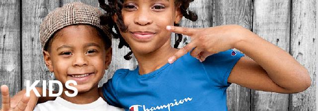 Champion T-Shirt Script Logo Boys Jersey Tee Cotton Jersey Athletic Fit Classic